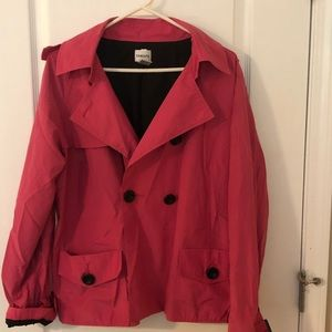 Chico's pink raincoat